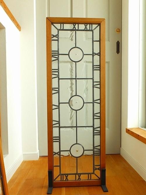 ステンドグラスパネル012 時とロンデルのパネル