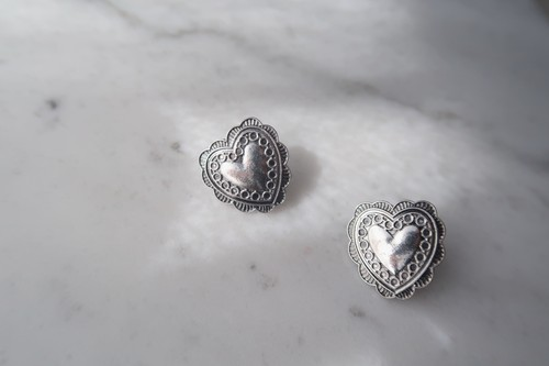 concho heart pierce・earring