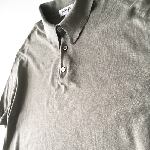LANVIN : knit polo shirt (used)