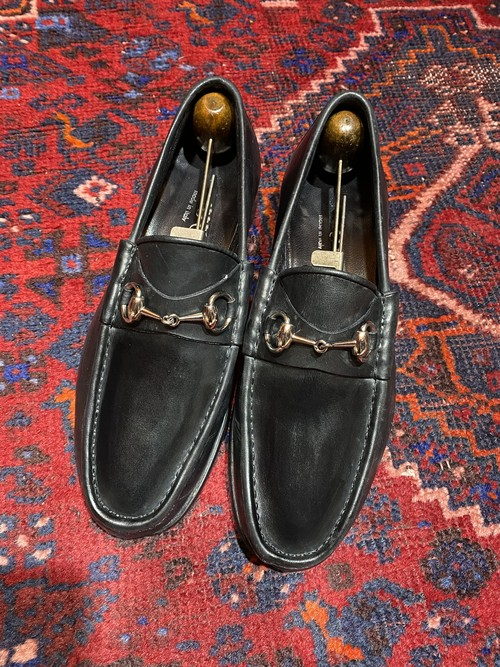.GUCCI LEATHER HORSE BIT LOAFER MADE IN ITALY/グッチレザーホースビットローファー 2000000048222