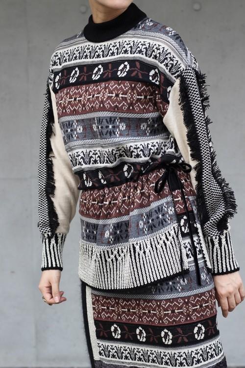 【leur logette】double jacquard knit