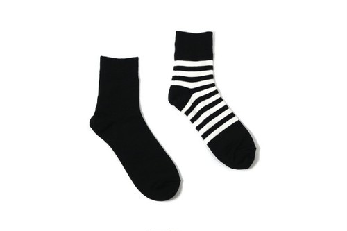 レディースソックス decka de- 07.2 REVERSIBLE SOCKS PLAIN×STRIPS