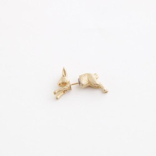 simmon/Brown Bunny Body Pierce_Gold(片耳)