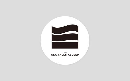 the sea falls asleep ロゴステッカー