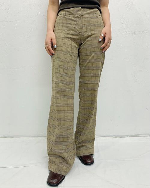 (PAL) plaid flare pants