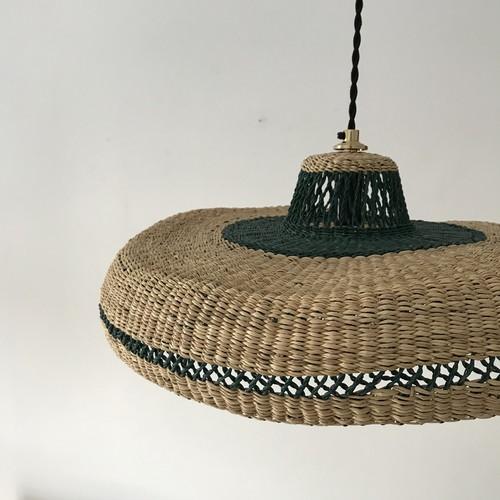 woven pendant lamp hat style