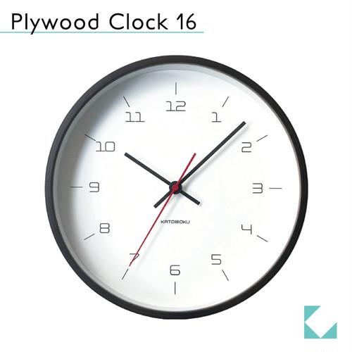 KATOMOKU plywood clock 16 km-105BR ブラウン