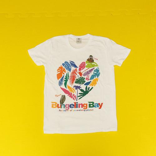 BungelingBay Tシャツ(ホワイト×Love&Peace)