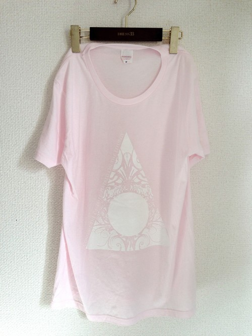 T-shirts 「Void in Flame」Pastel Pink (Round-neck)