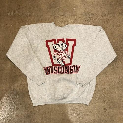 Wisconsin Print Raglan Sweat ¥5,200+tax