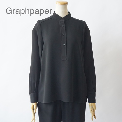 Graphpaper/グラフペーパー・Satin Band Collar Blouse
