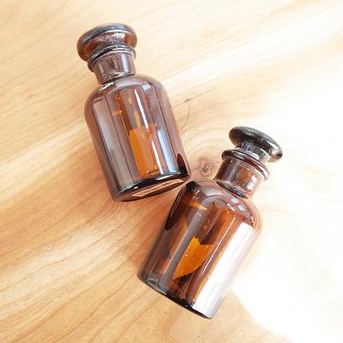 【オランダ】 Dille & Kamille (ディル&カミーユ) 薬瓶 ガラス瓶 共栓瓶 試薬瓶