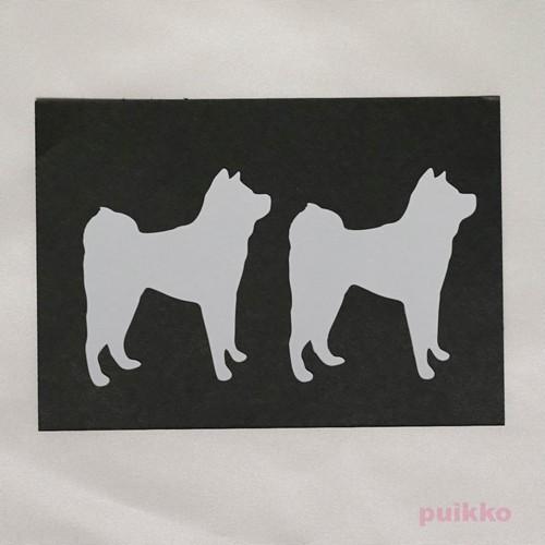 カット済みプラバン(レジン用プレート) 犬