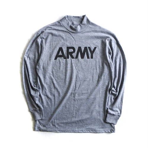 "Dead Stock【SOFFE】""ARMY"" Mock Neck Long Sleeve T-shirts"