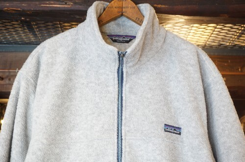 "early 90's Patagonia light gray zip-up Jacket ""Made in U.S.A."""