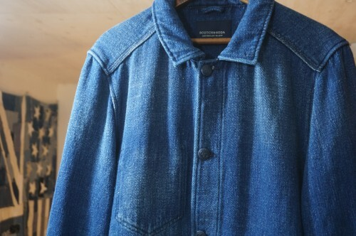 "SCOTCH & SODA indigo chore-style Jacket ""LOT.22"""