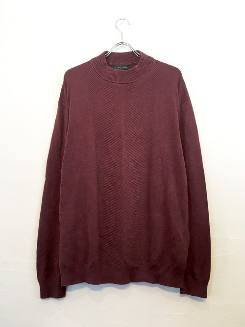 Mock-neck knit