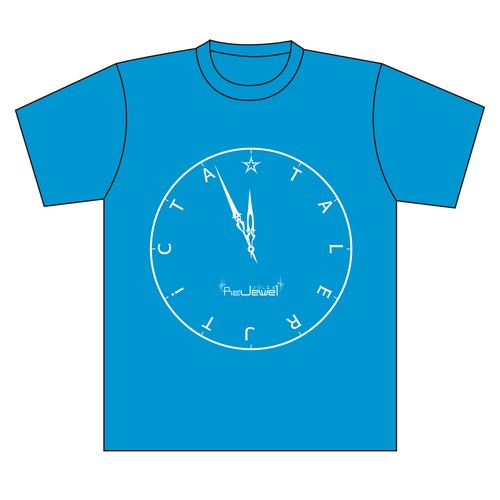 "New song ""TiCTA☆TALE"" clock face T-Shirt"