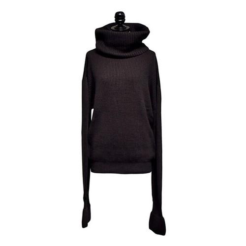 NATALIE KOLYOZYAN / Extra Long Sleeve Knitwear / Black
