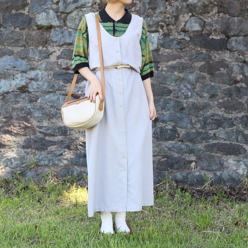 USA VINTAGE NO SLEEVE ONE PIECE/アメリカ古着ノースリーブワンピース