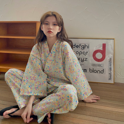 【set】おすすめ一目惚れ清新人気デザインパジャマ花柄優しい雰囲気 質感のいい
