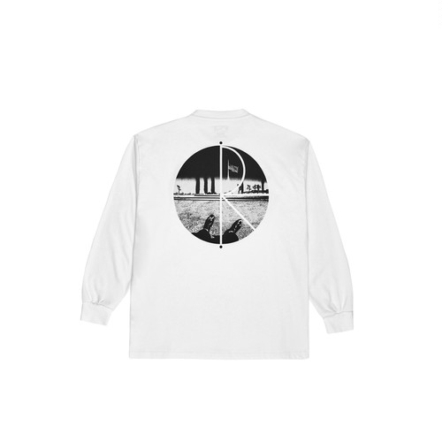 POLAR SKATE CO. Happy Sad Fill Logo Longsleeve L WHITE