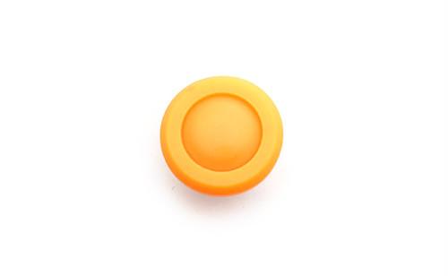 ヴィンテージ・ラウンドイエローシャンクボタン