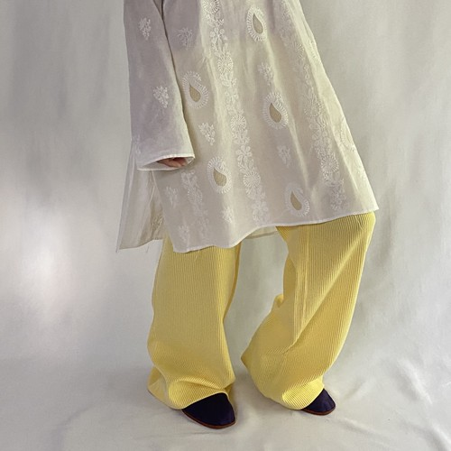 yellow stripe polyester pants (V5049A)