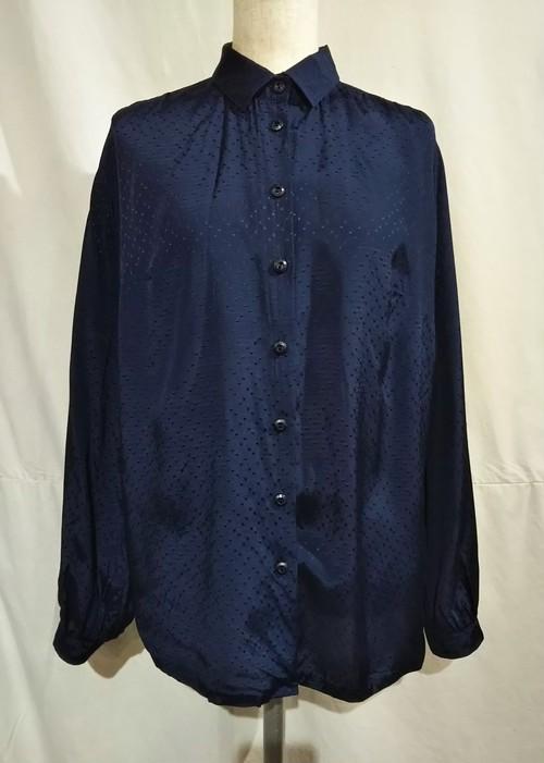 Random square dot rayon blouse [O-445]