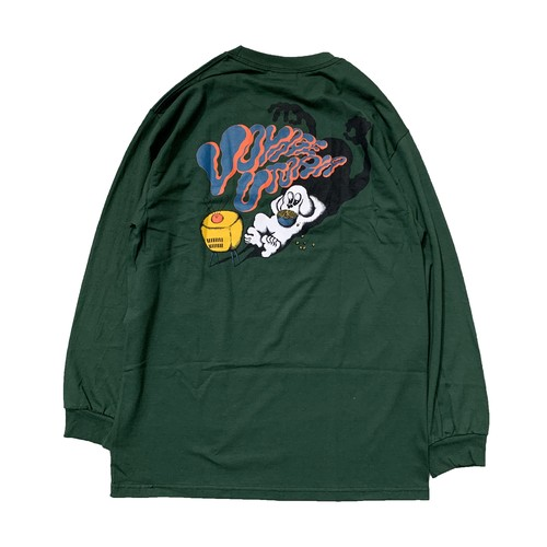VOYAGE UTOPIA / DOG L/S TEE -FOREST GREEN-