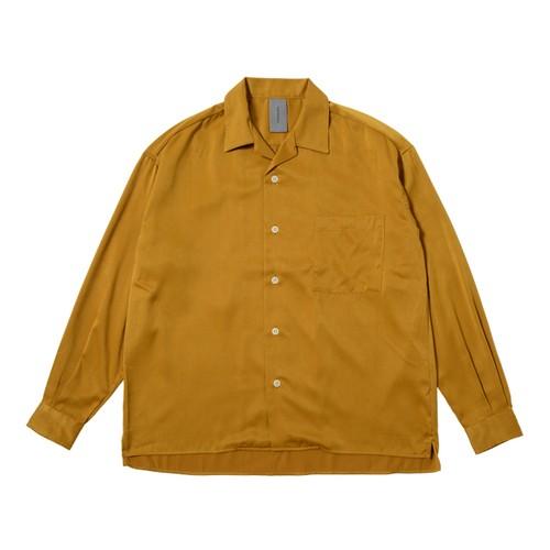 INFLUENCE ソフトサテンピーチカイキンシャツ