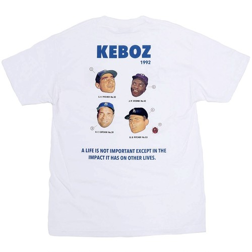 KURIO*KEBOZ Collaboration  S/S TEE WHITE