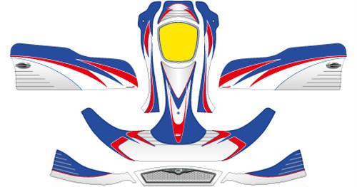 レーシングカート カウルステッカー NA2用 V07