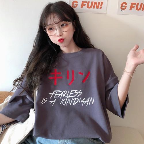 【トップス】insゆったり韓国風合わせやすい原宿bf快適なTシャツ