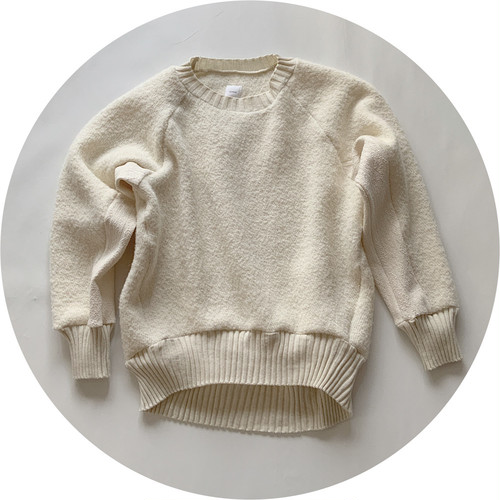 【warm pullover】warmsツイル/アイボリー/dead stock