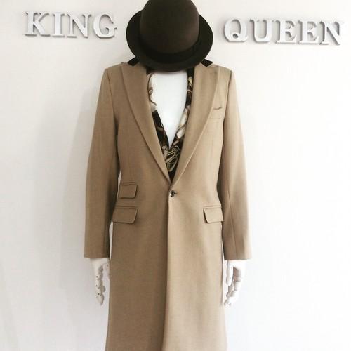 Camel wool single chesterfield coat キャメル ウール シングル チェスターコート KQDHP0425