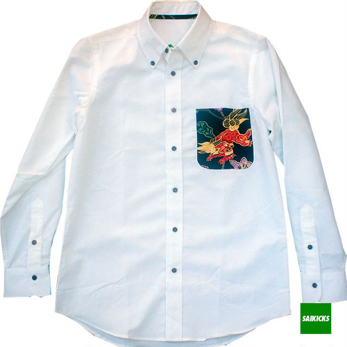 SAIKICKS ALOHA POCKET OXFORD L/S SHIRT