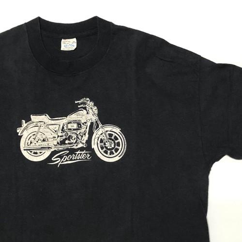70's BELTON Harley-Davidson 79 ION Sportster T-Shirts(黒,XLサイズ) ビンテージ ハーレー アイアンスポーツ Tシャツ