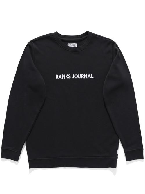 BANKS JOURNAL バンクスジャーナル LABEL CREW クルーネックスウェット AFL0314 DIRTY BLACK