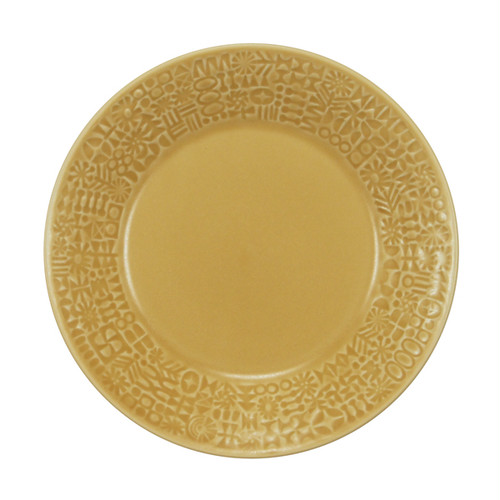 BIRDS' WORDS Patterned Plate yellow