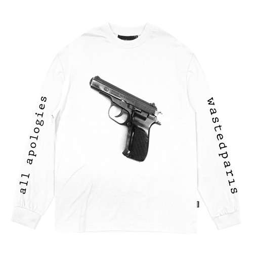 WASTED PARIS Apologies L/S T-Shirts WHITE