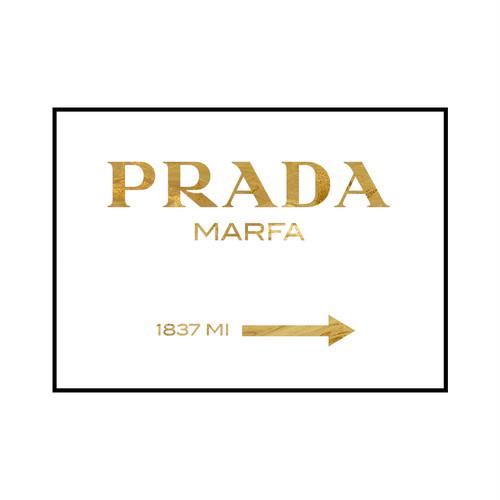 """PRADA MARFA 1837 MI"" Gold marble - POSTER [SD-000563] A1サイズ フレームセット"