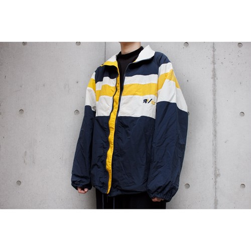 yellow navy white jacket
