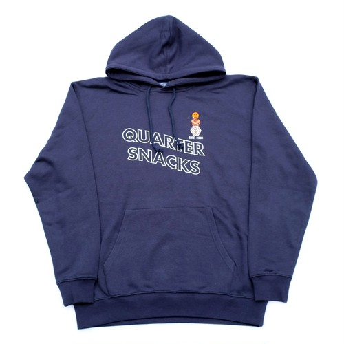 QUARTERSNACKS SNACKMAN HOODY NAVY L