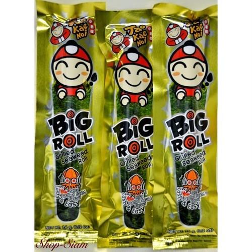タオケーノイ 味付のり ビックロール スパイシーイカ味/Tao Kae Noi Big Roll Seaweed Spicy Grilled Squid Japanese Style 9g×10袋
