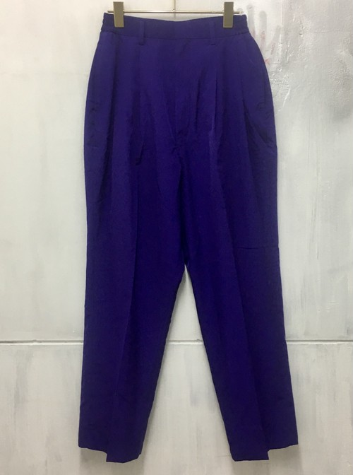 blue purple tapered pants