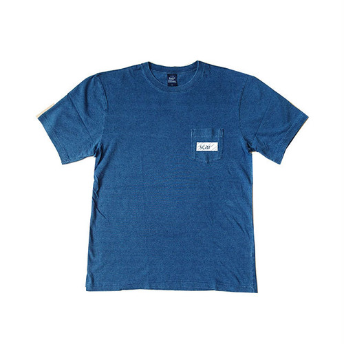 scar /////// BLACKBOX INDIGO POCKET TEE (Light Indigo)