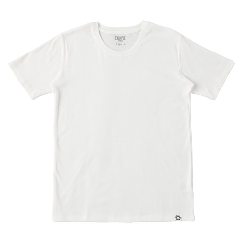 EXAMPLE UNDERWEAR 2PACK SHORT SLEEVE / WHITE & WHITE