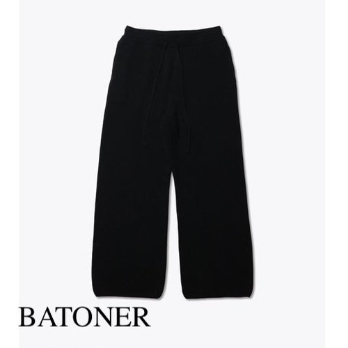BATONER/バトナー・Hight count rib knit pants