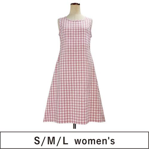 Aライン台形裾ワンピース SML